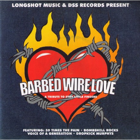V.A. - Birbed Wire Love - A tribute to Stiff Little Fingers   (7''),